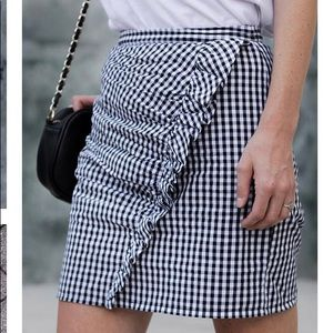 ASOS Gingham Mini Skirt